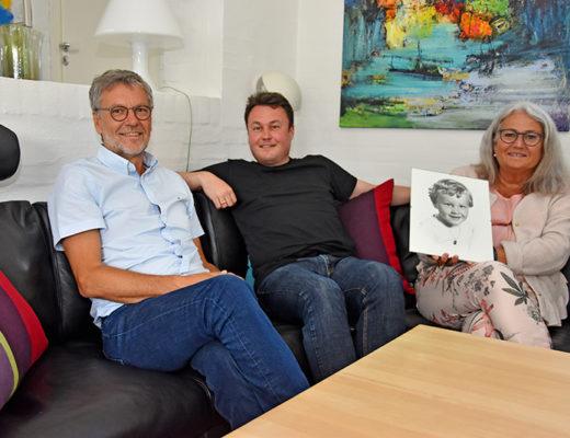 Jørn Kronborg Henriksen, Anders Krobog og Judith Kronborg Henriksen.