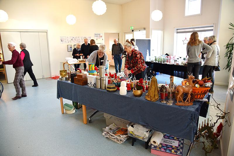 Brugerrådet og støtteforeningen sørgede for et hyggeligt julemarked på områdecenter Bytoften.