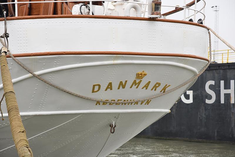 Galionsfiguren på skoleskibet Danmark.