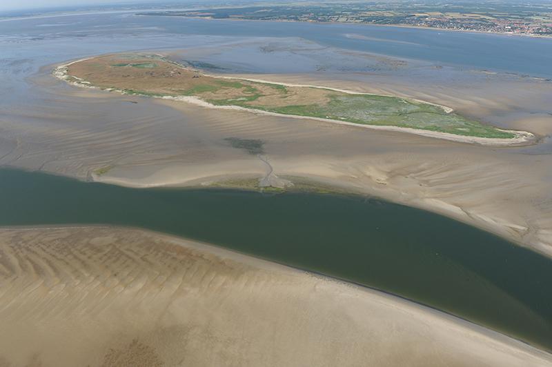 Langli set fra luften. Foto: Nationalpark Vadehavet.