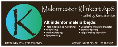 Malermester Klinkert hjemmeside